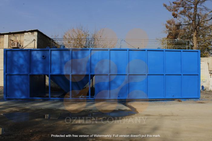 مخزن تصفیه فاضلاب بهداشتی ساخته شده توسط گروه مهندسی اوژن اطلس